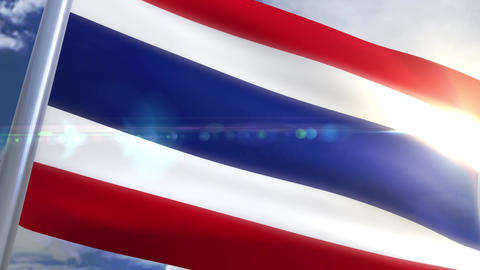 Waving flag of Thailand Animation Animation