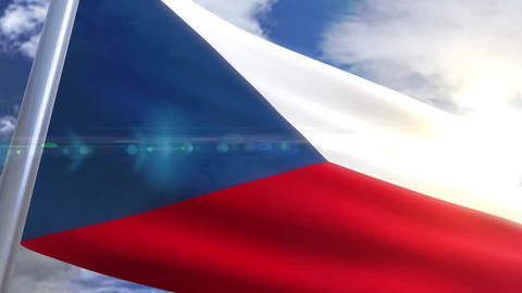 Waving flag of Czech Republic Animation Animation