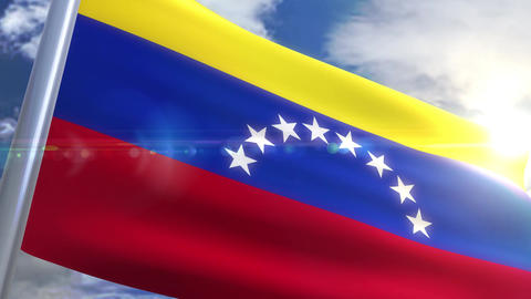 Waving flag of Venezuela Animation Animation