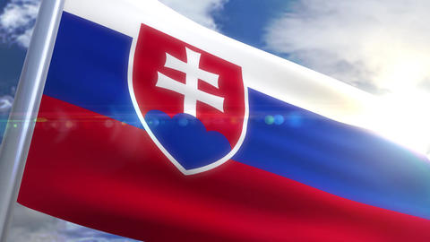 Waving flag of Slovakia Animation Animation