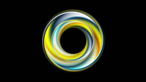 Colorful smooth circle ring abstract corporate video animation Animation