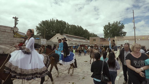 Exhibition of horses in festival Archivo