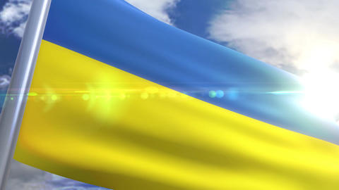 Waving flag of Ukraine Animation Animation