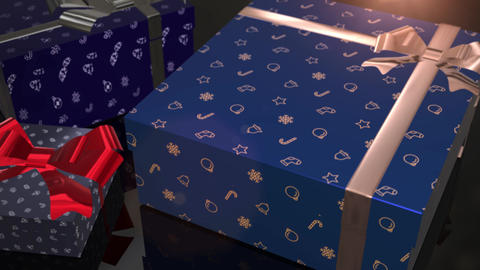 christmas birthday blue gift animation Animation