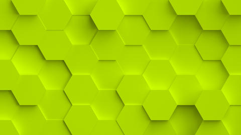 Abstract coloful background with 3D hexagons loop Animation