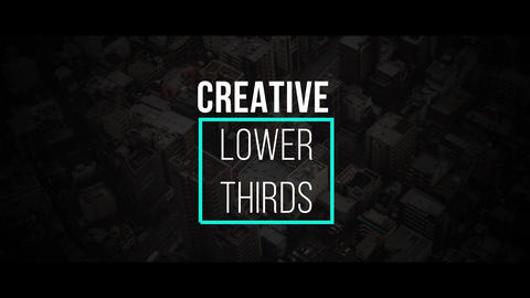 Creative Lower Thirds Premiere Pro Template