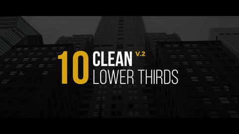 Clean Lower Thirds v2 Premiere Pro Template