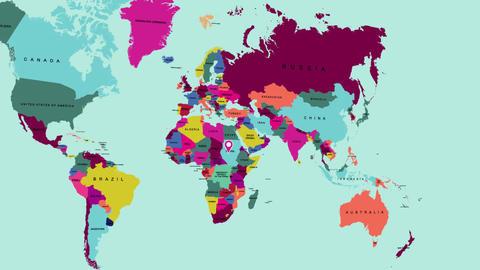 World map 1 モーショングラフィックステンプレート