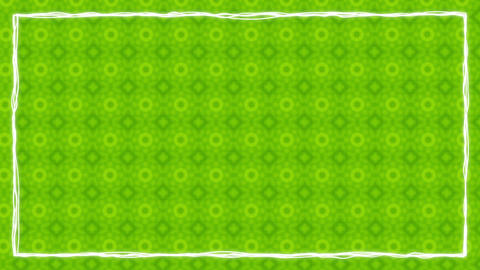 Green Texturized Animated Border Frame Animation