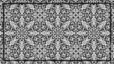 White and Black Ornament Texturized Animated Border Frame Animation
