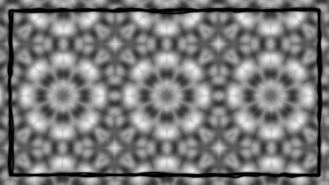 Dark Gothic Animated Texturized Ornament With Black Border Frame Animation
