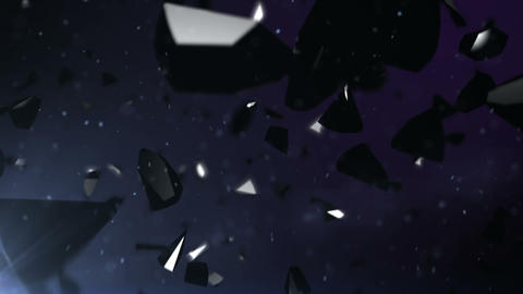Black stones falling down Animation