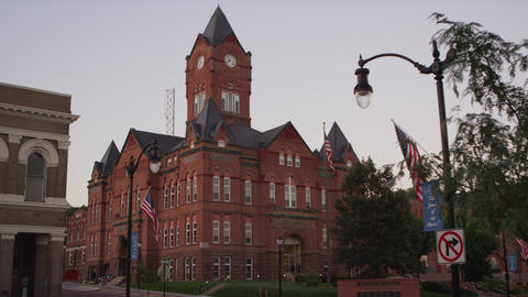 Static view of the Cass County Courthouse Footage