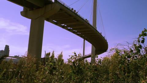 Bob Kerry Pedestrian Bridge in Omaha Nebraska Footage