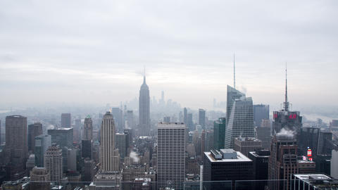 Time lapse to the Manhattan skyline in New York Footage