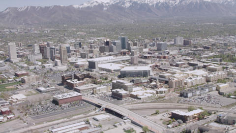 Aerial of Salt Lake City, Utah Footage