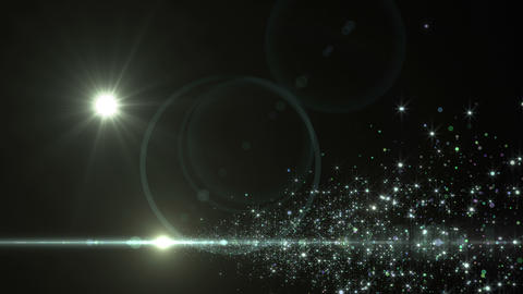 Lens Flares and Particles 16 F4 4k Animation