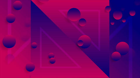 Blue purple abstract neon geometric video animation Animación