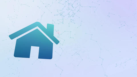 home house icon animation bubbles splatter morphing elements Animation