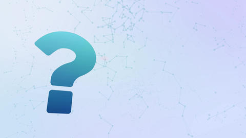 question mark sign faq icon animation bubbles splatter morphing elements Animation