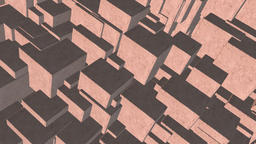 Seamless looping 4K abstract rotating cube animation Animation