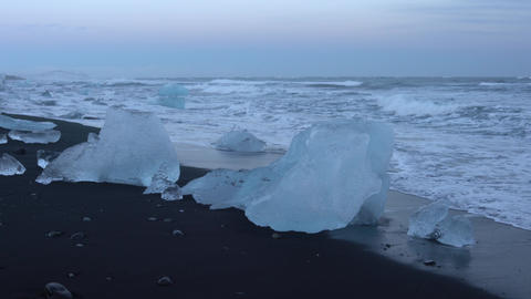 Diamond Beach Joekulsarlon, Iceland Footage