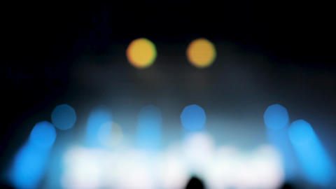 Blured colorful strobe lights at a music festival Footage