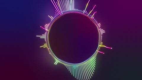 Audio Spectrum Music Visualizer 01 CG動画