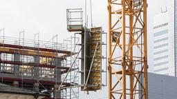Construction Equipment Transportation by Crane Footage