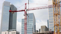 Construction Cranes and Office Towers Live Action
