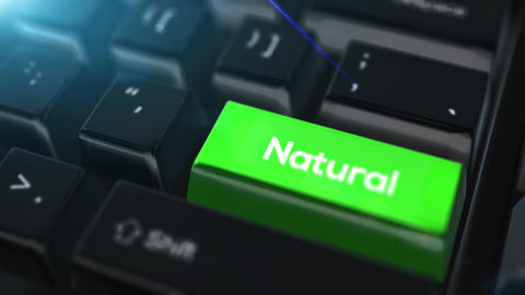 Animation close up computer keyboard with Natural Button Animation