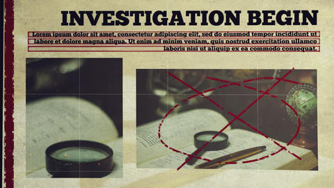 Investigation Promo After Effects Template