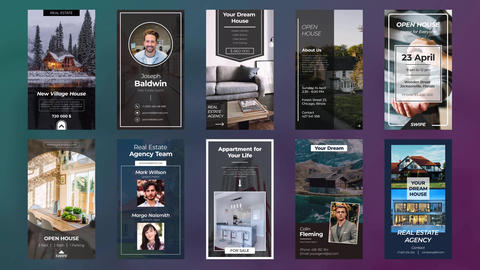 Instagram Real Estate Stories After Effects Template