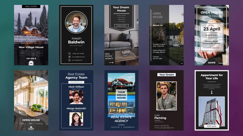 Instagram Real Estate Stories Motion Graphics Template
