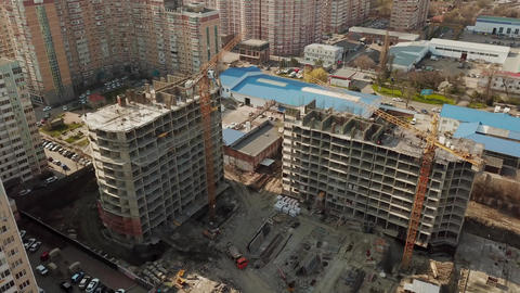 Top view of construction site in beginning of building new housing project Footage