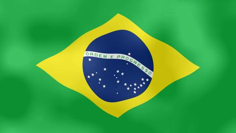 Animation of the Brazilian flag flaming Animación