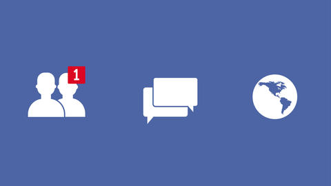 Social Network Notification Icon Buttons Animation