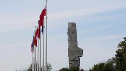 Monument to the Coast Defenders on Westerplatte, Gdansk, Poland Footage