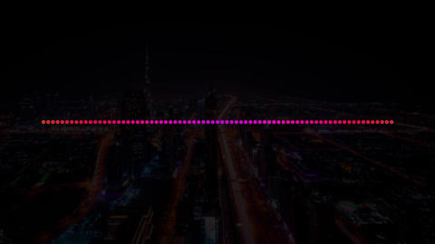 Pink and Purple Electro House Music Sound with Equalizer... Stock Video Footage