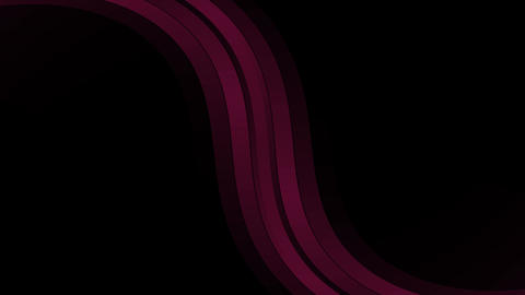 Red Beautiful Abstract Waves in a dark background Animation Stock Video Footage