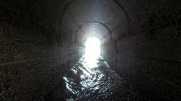 Water Cave, Water Tunnel , Underground Caves, Stone Tunnel or Light Tunnel end Footage