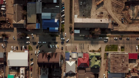 Aerial view of downtown city Footage