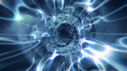 Cosmic Wormhole Abstract Energy Tunnel Vortex in Blue Animation