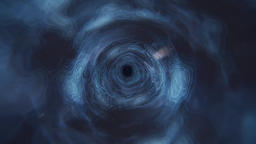 Cosmic Wormhole Cloudy Tunnel Vortex in Blue (4k) Animation