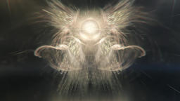 Divine Cosmic Energy Being Radiating Light and Rays (4k) Stock Video Footage