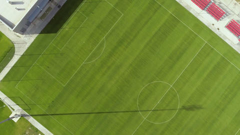 Aerial view of football field ビデオ