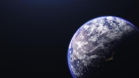 宇宙に浮かぶ地球 CG動画