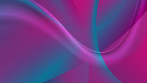 Blue pink flowing holographic waves motion design Animation