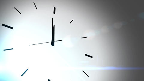 Clock Countdown Ticking Midnight 20 seconds with white background Animation