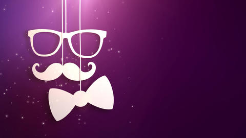 Happy father day purple background animation Animation